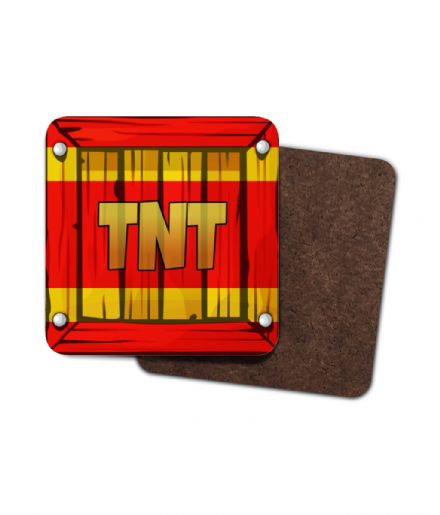 Crash Bandicoot TNT Crate Single Hardboard Coaster